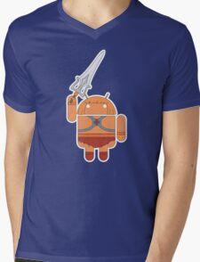 He-Droid (no text) Mens V-Neck T-Shirt