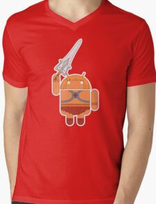 He-Droid (no text) Mens V-Neck T-Shirt