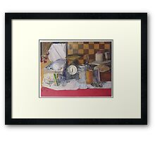 Still life with Scales Framed Print