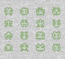 OMG Space Invaders Baby Tee