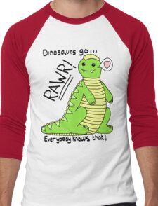 Dinosaurs Go Rawr! Men's Baseball ¾ T-Shirt