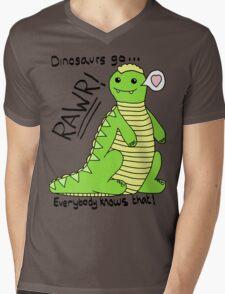 Dinosaurs Go Rawr! Mens V-Neck T-Shirt