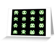 OMG Space Invaders Greeting Card