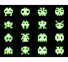 OMG Space Invaders Photographic Print