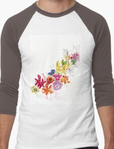 Flower Power Men's Baseball ¾ T-Shirt