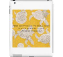 Hold Onto Each Other iPad Case/Skin