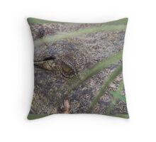 Croc-eye Throw Pillow