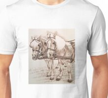 Haflinger Driving Horses Unisex T-Shirt