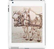 Haflinger Driving Horses iPad Case/Skin