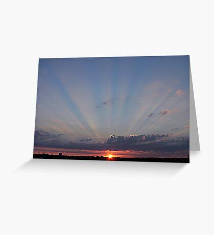Sunset over Southampton, UK Greeting Card