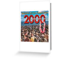 2000 Members Banner Greeting Card