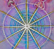 Mandala Art : Flutterby  by danita clark