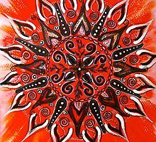 Mandala : Orange Vibrancy by danita clark