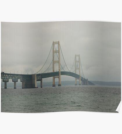 Mackinac Bridge Northbound Poster