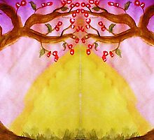 Mirror Fantasy Tree, mixed media by Anna  Lewis