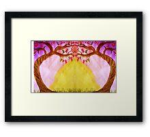 Mirror Fantasy Tree, mixed media Framed Print