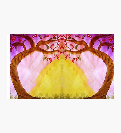 Mirror Fantasy Tree, mixed media Photographic Print