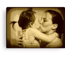 Kissing my Mom Canvas Print