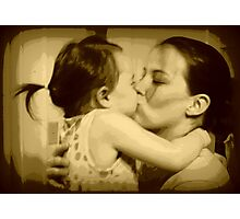 Kissing my Mom Photographic Print