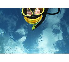 Self Portrait with underwater sky! Photographic Print