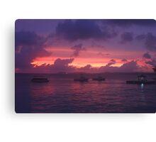 Sunset in Bonaire Canvas Print