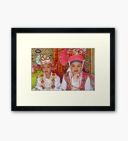 Shan boys, Poy Sang Long ceremony, Thailand Framed Print