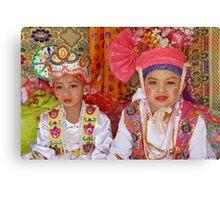 Shan boys, Poy Sang Long ceremony, Thailand Canvas Print