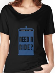 TARDIS - Need a ride?  Women's Relaxed Fit T-Shirt