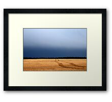 Prairie Field  and Sky  Framed Print