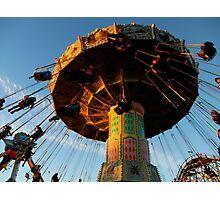 Amusement Park Swings Photographic Print