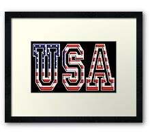 USA, Stars and Stripes, United States of America, Flag, Patriot, America, American, US, on BLACK Framed Print