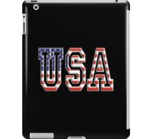 USA, Stars and Stripes, United States of America, Flag, Patriot, America, American, US, on BLACK iPad Case/Skin