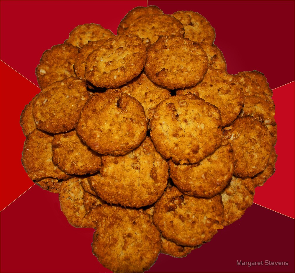 Yummy ANZAC Biscuits. by Margaret Stevens