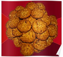 Yummy ANZAC Biscuits. Poster