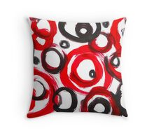 Circles Abstract Art Throw Pillow