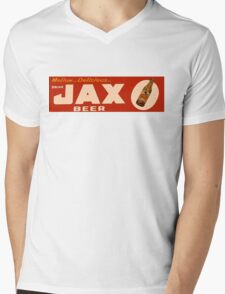 JAX BEER OF NEW ORLEANS Mens V-Neck T-Shirt