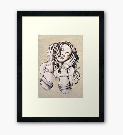 Feels Like the Wind Blows (b&w) Framed Print