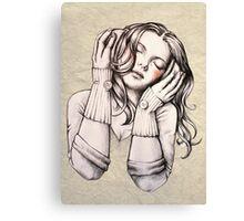 Feels Like the Wind Blows (b&w) Canvas Print