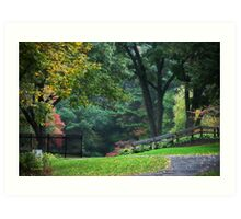 Walk in the Park New York Landscape Art Art Print