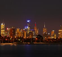 Melbourne By Night by 104paul