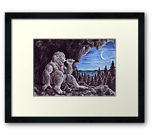 Troll sat alone on his seat of stone Framed Print