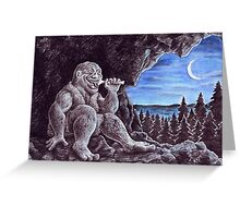 Troll sat alone on his seat of stone Greeting Card