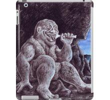 Troll sat alone on his seat of stone iPad Case/Skin