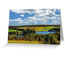 New York Countryside Landscape Greeting Card