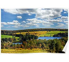 New York Countryside Landscape Poster