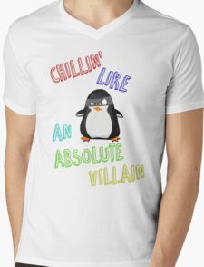 Chillin' Like An Absolute Villain Mens V-Neck T-Shirt