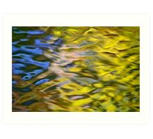 Mojave Gold Mosaic Abstract Art Print