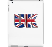 UK, Flag, Union Jack, British, United Kingdom, Blighty, on WHITE iPad Case/Skin