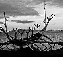 Viking ship sculpture Reykjavik, Iceland by Paul  Sloper