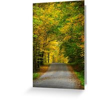 Tunnel of Trees Fall Landscape Greeting Card